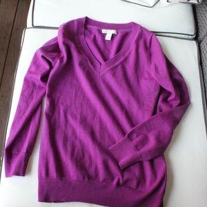 Banana Republic Fine Merino V-Neck Sweater